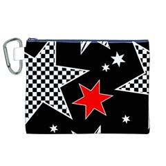 Stars Seamless Pattern Background Canvas Cosmetic Bag (XL)
