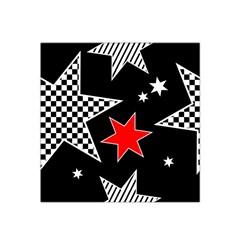 Stars Seamless Pattern Background Satin Bandana Scarf