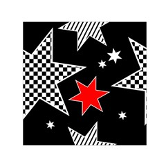 Stars Seamless Pattern Background Small Satin Scarf (square)