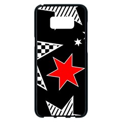 Stars Seamless Pattern Background Samsung Galaxy S8 Plus Black Seamless Case