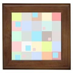 Pastel Diamonds Background Framed Tiles