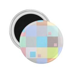 Pastel Diamonds Background 2.25  Magnets
