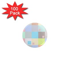 Pastel Diamonds Background 1  Mini Magnets (100 Pack)