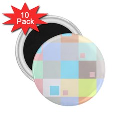 Pastel Diamonds Background 2.25  Magnets (10 pack)