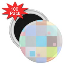 Pastel Diamonds Background 2.25  Magnets (100 pack)