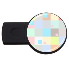 Pastel Diamonds Background USB Flash Drive Round (4 GB)
