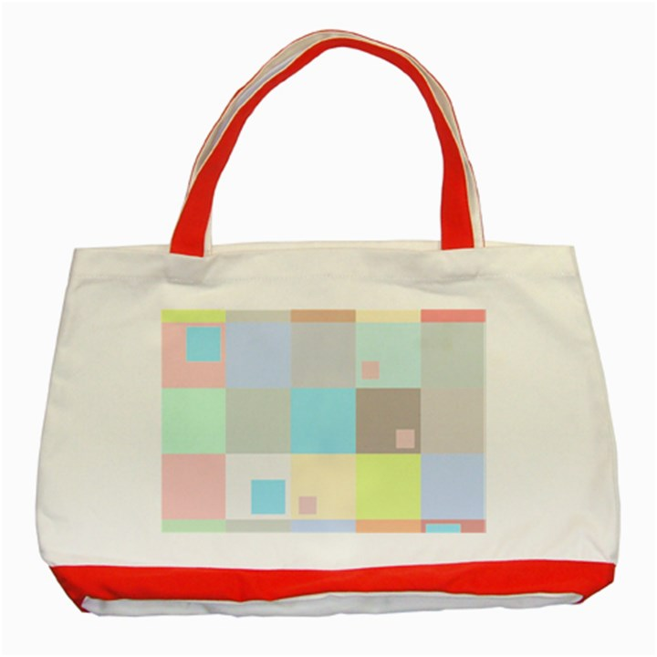 Pastel Diamonds Background Classic Tote Bag (Red)