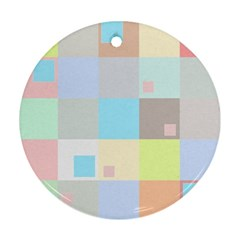 Pastel Diamonds Background Round Ornament (Two Sides)