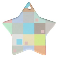 Pastel Diamonds Background Star Ornament (two Sides)