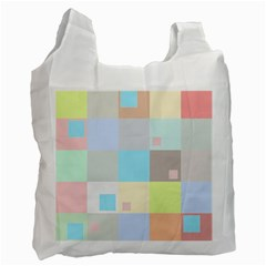 Pastel Diamonds Background Recycle Bag (One Side)