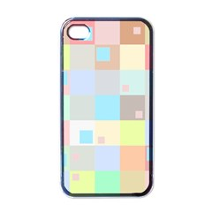 Pastel Diamonds Background Apple Iphone 4 Case (black)