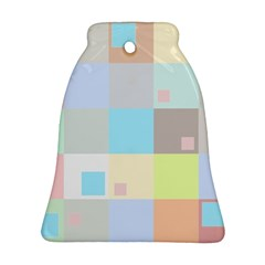 Pastel Diamonds Background Bell Ornament (Two Sides)
