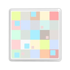 Pastel Diamonds Background Memory Card Reader (square)