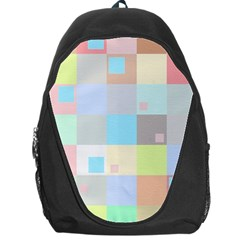 Pastel Diamonds Background Backpack Bag