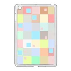 Pastel Diamonds Background Apple Ipad Mini Case (white)