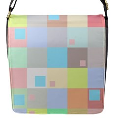 Pastel Diamonds Background Flap Messenger Bag (S)