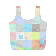Pastel Diamonds Background Full Print Recycle Bags (m)