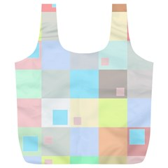 Pastel Diamonds Background Full Print Recycle Bags (L)