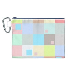 Pastel Diamonds Background Canvas Cosmetic Bag (l)
