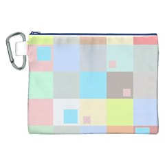 Pastel Diamonds Background Canvas Cosmetic Bag (xxl)