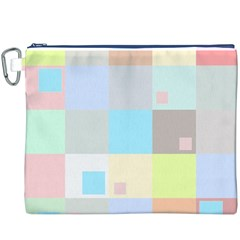 Pastel Diamonds Background Canvas Cosmetic Bag (XXXL)