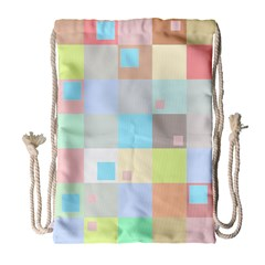 Pastel Diamonds Background Drawstring Bag (large)