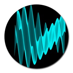 Wave Pattern Vector Design Round Mousepads