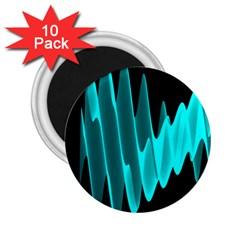 Wave Pattern Vector Design 2 25  Magnets (10 Pack)
