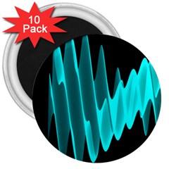 Wave Pattern Vector Design 3  Magnets (10 Pack)