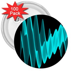 Wave Pattern Vector Design 3  Buttons (100 Pack)