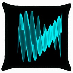 Wave Pattern Vector Design Throw Pillow Case (Black)