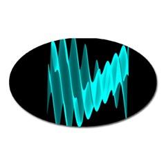 Wave Pattern Vector Design Oval Magnet