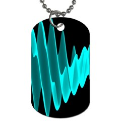 Wave Pattern Vector Design Dog Tag (One Side)