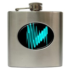 Wave Pattern Vector Design Hip Flask (6 Oz)