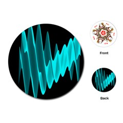 Wave Pattern Vector Design Playing Cards (round)