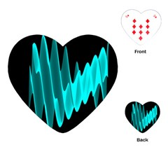 Wave Pattern Vector Design Playing Cards (Heart)