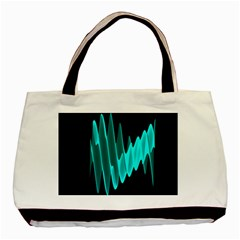 Wave Pattern Vector Design Basic Tote Bag