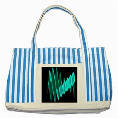 Wave Pattern Vector Design Striped Blue Tote Bag
