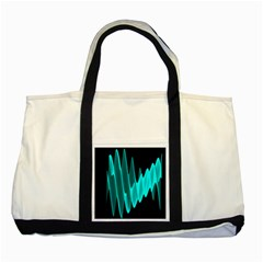 Wave Pattern Vector Design Two Tone Tote Bag