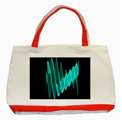 Wave Pattern Vector Design Classic Tote Bag (red)