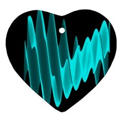 Wave Pattern Vector Design Heart Ornament (two Sides)