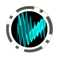 Wave Pattern Vector Design Poker Chip Card Guard