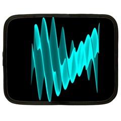 Wave Pattern Vector Design Netbook Case (large)