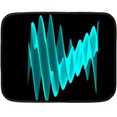 Wave Pattern Vector Design Fleece Blanket (Mini)