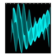 Wave Pattern Vector Design Shower Curtain 66  x 72  (Large)