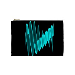 Wave Pattern Vector Design Cosmetic Bag (Medium)