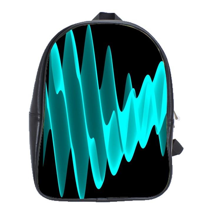 Wave Pattern Vector Design School Bags(Large)