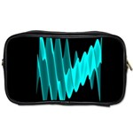 Wave Pattern Vector Design Toiletries Bags Front
