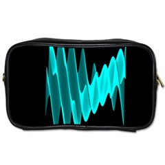 Wave Pattern Vector Design Toiletries Bags 2 Side
