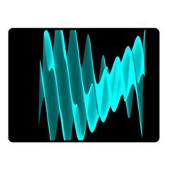 Wave Pattern Vector Design Fleece Blanket (Small)